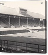 Leicester City - Filbert Street - Main Stand 1 - Bw - 1960s Acrylic Print