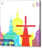 Leiden Skyline Pop Acrylic Print