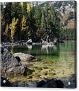 Leigh Lake Cove Acrylic Print