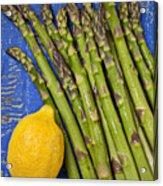 Lemon And Asparagus  Acrylic Print