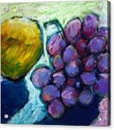 Lemon And Grapes Acrylic Print