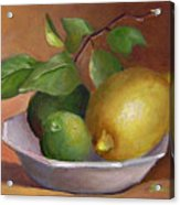 Lemon And Limes Still Life Acrylic Print