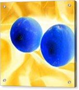 Lemon Blue Acrylic Print