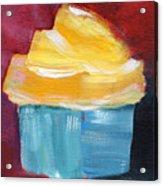 Lemon Cupcake- Art By Linda Woods Acrylic Print