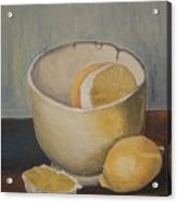 Lemon In A Bowl Acrylic Print