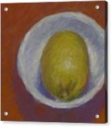 Lemon In A Small Bowl Acrylic Print