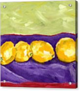 Lemon Party Acrylic Print
