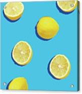 Lemon Pattern Acrylic Print
