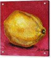 Lemon Pink Acrylic Print