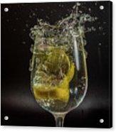 Lemon Spash Acrylic Print