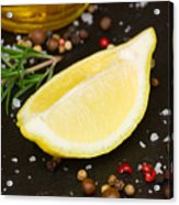Lemon With Spices  Acrylic Print