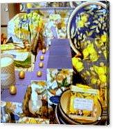 Lemons And Blue Acrylic Print