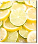 Lemons And Limes Abstract Acrylic Print