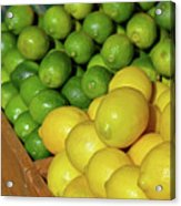 Lemons And Limes At Market Acrylic Print