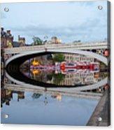 Lendal Bridge Reflection  Acrylic Print