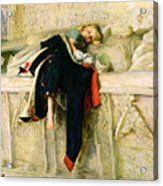 L'enfant Du Regiment Acrylic Print by Sir John Everett Millais
