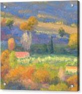 Lengthening Shadows - Tuscany Acrylic Print