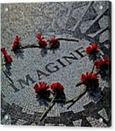 Lennon Memorial Acrylic Print by Chris Lord