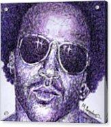 Lenny Kravitz Acrylic Print by Maria Arango