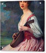 Lenoir Charles La Mandoline Acrylic Print