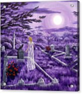 Lenore In Lavender Moonlight Acrylic Print