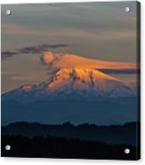 Lenticular Clouds Over Mount Hood Acrylic Print
