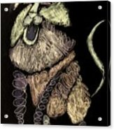 Leo, Rampant -- Negative Sepia Acrylic Print