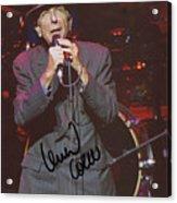 Leonard Cohen Autographed Acrylic Print