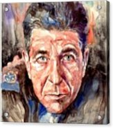 Leonard Cohen Painting Acrylic Print