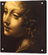 Leonardo- Angel From The Madonna Of The Rocks Acrylic Print