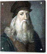 Leonardo Da Vinci - To License For Professional Use Visit Granger.com Acrylic Print