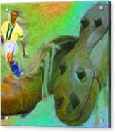 Leonidas And Soccer Shoes Acrylic Print