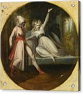 Leonore Discovering The Dagger Left By Alonzo Acrylic Print
