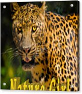 Leopard Nature Girl Acrylic Print