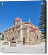 Lerapetra Church Of Saint George Panorama Acrylic Print