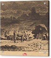 Les Anes De La Butte-aux-cailles (donkeys At La Butte-aux-cailles) Acrylic Print