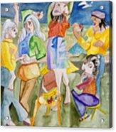 Les Demoiselles Of Santa Cruz V3 Acrylic Print by Susan Cafarelli Burke