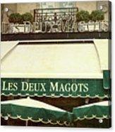 Les Deux Magots - #1 Acrylic Print