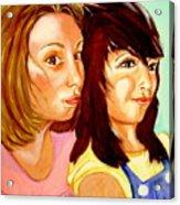 Les Meilleures Amies   Hanna And Yasmine Acrylic Print