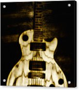 Les Paul Guitar Acrylic Print by Bill Cannon