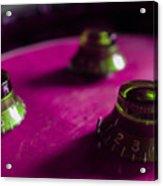 Les Paul Guitar Controls Series Acrylic Print