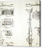 Les Paul Guitar Patent 1955 Acrylic Print
