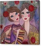 Les Soeurs De Coeur Acrylic Print