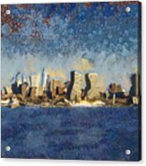 Less Wacky Philly Skyline Acrylic Print