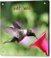 Lessons From Nature - Eat Well Acrylic Print