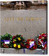 Lest We Forget War Memorial Martin Place Acrylic Print