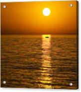 Lesvos Sunset Acrylic Print by Meirion Matthias