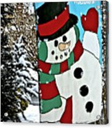 Let It Snow - Happy Holidays Acrylic Print