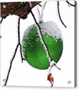 Let It Snow Christmas Ornament Acrylic Print