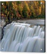 Letchworth Falls Sp Middle Falls Acrylic Print